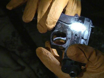 Изъятый у боевиков пистолет. Фото с сайта nak.fsb.ru
