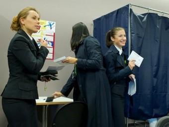 Голосование на выборах в Латвии. Фото ©AFP