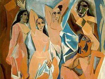 """Фрагмент картины """"Авиньонские девицы"""" Пабло Пикассо"""