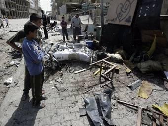 Последствия теракта в городе Кербела. Архивное фото ©AFP