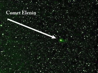 Комета Еленина в августе. Фото STEREO/NASA
