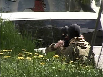 "Спецоперация в Кабардино-Балкарии. Кадр телеканала ""Россия 1"""