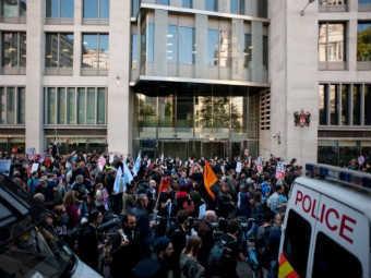 Акция протеста в Лондоне. Фото ©AFP