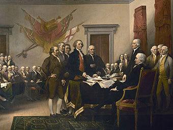 """""""Провозглашение независимости США"""" Джона Трамбулла"""
