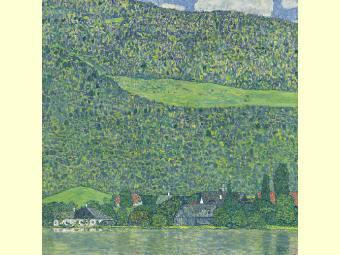 "Густав Климт, ""Лицльберг на Аттерзее"". Фото из каталога Sotheby's"