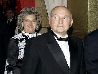 Елена Батурина и Юрий Лужков. Архивное фото ©AFP