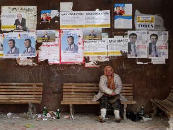 Предвыборная агитация кандидатов в президенты Южной Осетии. Фото РИА Новости, Михаил Мокрушин