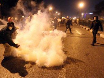 Беспорядки в районе площади Тахрир. Фото ©AFP