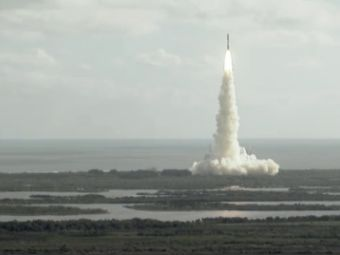 Кадр трансляции с сайта NASA