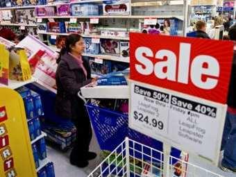 Совокупные продажи в американских магазинах в...