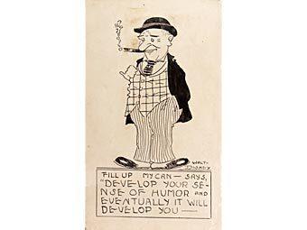 Выставленный на торги рисунок Уолта Диснея