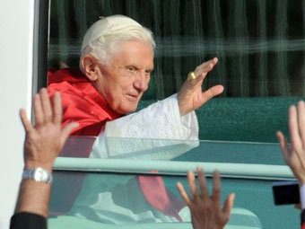 Бенедикт XVI во время визита в Германию. Фото ©AFP
