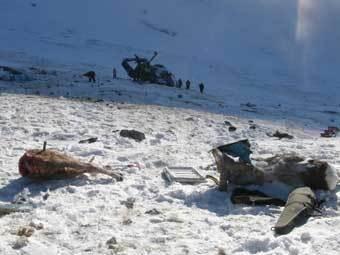 """Убитые архары на месте крушения вертолета Ми-8. Фото с сайта """"Алтапресс"""""""