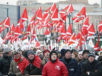 """Акция движения """"Наши"""". Фото РИА Новости, Руслан Кривобок"""