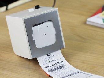 Little Printer, кадр из видеоролика с сайта производителя