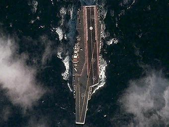 "Авианосец ""Ши Лан"". Фотография с сайта digitalglobe.com"