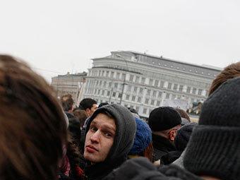 """Участники митинга на Болотной. Фото Андраша Фекете для """"Ленты.ру"""""""