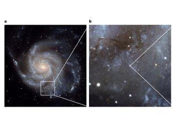 Сверхновая SN 2011fe. Фото авторов исследования