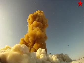 Запуск ракеты ПРО. Кадр из видео на сайте mil.ru