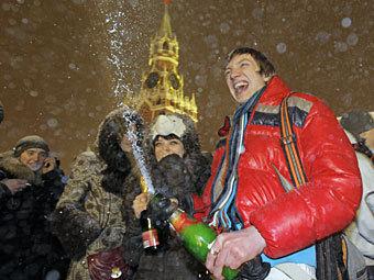 Встреча нового года на Красной площади. Фото РИА Новости, Виталий Белоусов