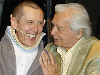 Валерий Золотухин и Юрий Любимов. Архивное фото ИТАР-ТАСС