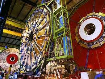 Фрагмент детектора CMS коллайдера. Фото пресс-службы CERN