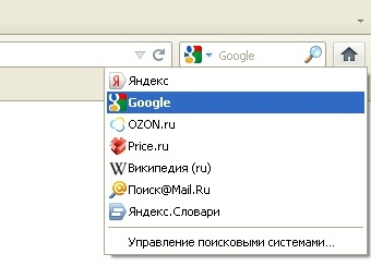 Элемент интерфейса Firefox