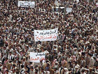 Антиправительственный митинг в Дамаге. Фото ©AFP