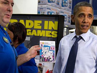 Барак Обама покупает Just Dance 3. Фото ©AFP