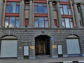 Главное здание ФСКН. Изображение с сервиса infomap