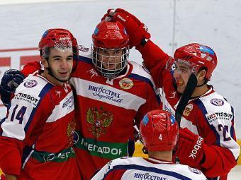 Хоккеисты молодежной сборной России. Фото с официального сайта Федерации хоккея России
