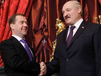 Дмитрий Медведев и Александр Лукашенко. Фото ©AFP