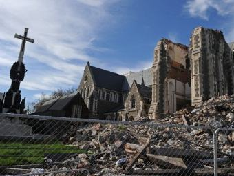 Последствия землетрясения, произошедшего в Крайстчерч в феврале 2011 года. Фото из архива (с)AFP