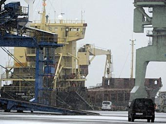 """""""Тор-Либерти"""" в порту Котка. Фото ©AFP"""