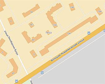 Место происшествия на картах Яндекса