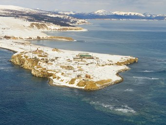 Мыс Крильон в проливе Лаперуза. Фото РИА Новости, Сергей Красноухов
