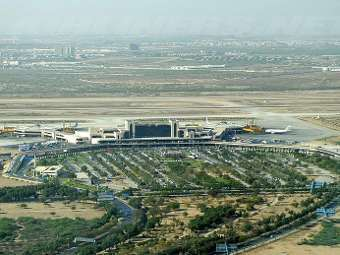 Аэропорт Карачи. Фото пользователя Saqib Qayyum с сайта en.wikipedia.org