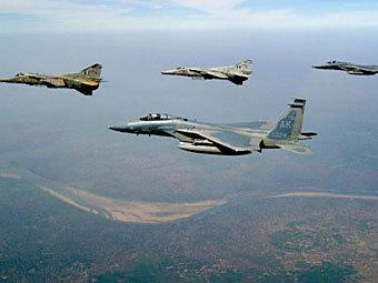 """Самолеты """"МиГ-21"""" индийских ВВС. Фото ©AFP"""