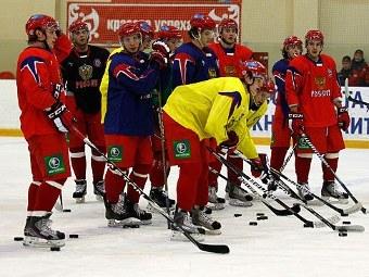 Хоккеисты молодежной сборной России. Фото с официального сайта ФХР