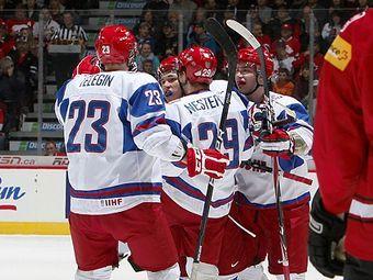 Хоккеисты молодежной сборной России. Фото с официального сайта турнира