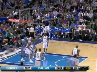 """Эпизод матча """"Денвер"""" - """"Даллас"""". Кадр видеоролика с официального сайта НБА"""