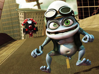 Кадр из клипа Crazy Frog - Axel F