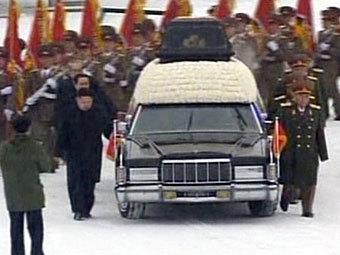 Прощание с Ким Чен Иром. Фото ©AFP