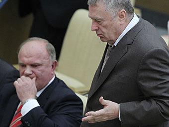 Геннадий Зюганов и Владимир Жириновский. Фото РИА Новости, Владимир Федоренко