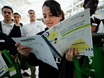 Американская студентка. Фото ©AFP