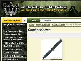 Скриншот сайта specialforces.com