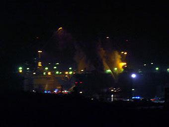 Пожар в Росляково. Фото с сайта blogger51.ru