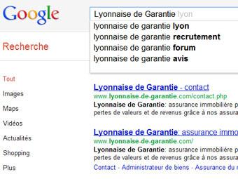 Скриншот сайта google.fr