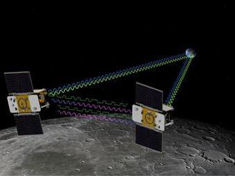 Аппараты Grail-A и Grail-B глазами художника. Изображение NASA