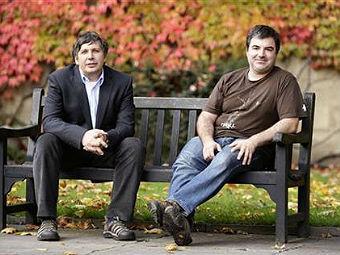 Андрей Гейм и Константин Новоселов. Фото с сайта manchester.edu